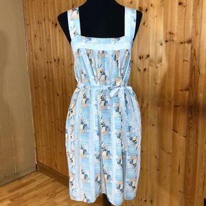 TUCKER Petite Peach & Blue Mint Silk Pocket Dress